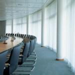 Tenda con binario per sala conferenze