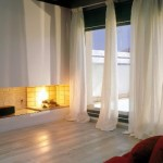 Tenda con bastone decorativo per soggiorno