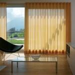 Tenda con binario per soggiorno, modello wave