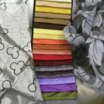 Tessuti taffeta' e  decorati