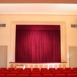 Tenda con binario - palcoscenico teatro