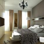 Tenda con bastone decorativo per camera da letto